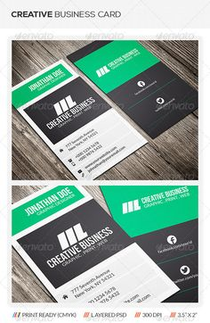 "Creative Business Card #GraphicRiver Creative Corporate Business Card Template This creative corporate business card template is suitable for both business and personal usage. It's fast and easy to edit color and text. Need a different color? Customized your preferred color fast and easy with just a few click. More detailed instructions in readme file. Template Info Photoshop PSD (Front & back) Size 2"" x 3.5"" (2.25"" x 3.75"" with bleed) Organized layers (Labeled & grouped) Fully editable…"