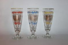 Set of three cocktail glasses sherry wine by MillCottageRetro