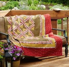 Richly Red by Mary Elizabeth Kinch American Patchwork & Quilting June 2015 | AllPeopleQuilt.com
