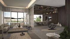 Sala y comedor.: Salas de estilo moderno por Nova Arquitectura
