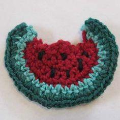 Crochet Watermelon Applique ~ free pattern