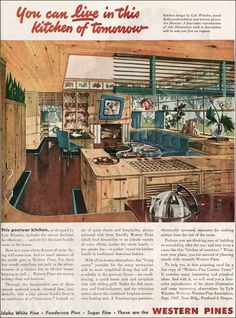 Must have with combined fireplace-incinerator-heating unit.  Also note 1940s black and white flat screen - who knew?