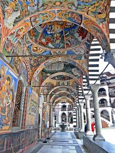 The Monastery of St. John of Rila , also known simply as the Rila Monastery founded in the 10th century is the largest and most famous Orthodox monastery in Bulgaria The 1976 was declared a national historic monument of Bulgarian and 1983 was marked by the UNESCO as a World Heritage Site.