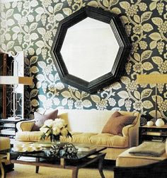 Celerie Kemble   Gutsy wallpaper!