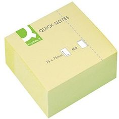 Q-Connect Yellow Quick Note Cube 75x75mm KF01346 Sticky Pads, Cube, Connection, Notes, Ebay, Yellow, Garden, Sticky Notes, Adhesive
