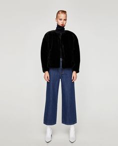 ZARA - TRF - FAUX FUR JACKET