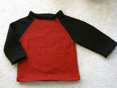 Free+Knitting+Pattern+-+Toddler+&+Children's+Clothes:+Baseball+Tee+Sweater