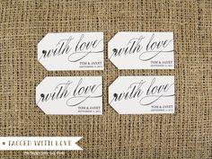 With Love Custom Tags - Medium Size - Wedding Tag - Wedding Favor Tag - Favor Tag. $16.25, via Etsy.
