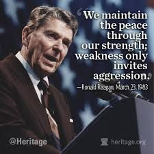 """The """"Reagan Doctrine"""" (1981-1988) was anti-Communist policy. In the 1985 State of the Union address, President Ronald Reagan called upon Congress and the American people to stand up to the Soviet Union, what he had previously called the """"Evil Empire"""". During his two terms in office, President Reagan increased defense spending by 35%."""