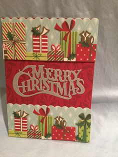 Anna Griffin holiday card kit with 3D holiday borders and festive word die cut. MC #35