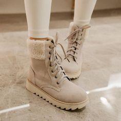 Женщины Сапоги Снега Теплые Зимние Сапоги Botas Mujer Зашнуровать меха Половина Короткие Сапоги Женские Зимние Ботинки женщина обувь Размер 33 43 купить на AliExpress