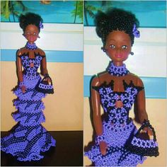 Doll Dresses, Mini Dresses, Beaded Rings, Barbie Clothes, Beadwork, Crochet, Fashion Dolls, Peplum Dress, Creations