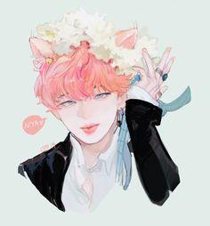 Jimin Fanart, Bts Fans, Jikook, Beautiful Babies, Chibi, Original Art, Kitty, Fan Art, Anime