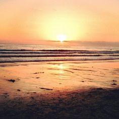 Sunset, Moonlight beach, Encinitas