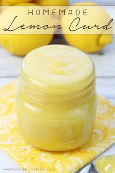 This Lemon Curd is great with scones, muffins, waffles or used in your favorite desserts! This thick, sweet and citrusy spread is so easy to make at home - it's like sunshine on a spoon! | by lovebakesgoodcakes