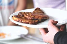 Coffee-Molasses Marinated Pork Chops | Make Ahead Meals For Busy Moms