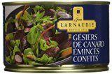 Jean Larnaudie Gésiers de Canard Émincés Confits 410 g - Lot de 2