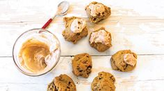 The perfect cookie for when the pumpkin craving hits. Desserts Menu, Healthy Dessert Recipes, Yummy Eats, Yummy Food, Epicure Recipes, Thanksgiving Dinner Recipes, Specialty Foods, Seasonal Food, Dessert Bread