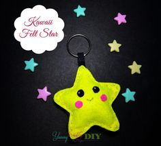 Are you a beginner in crafting looking for a good and easy project to start with? Well, this Easy Craft Idea - Kawaii Felt Star is the perfect project! Crafty Projects, Easy Projects, Felt Crafts, Easy Crafts, Kawaii Felt, Ava, Crafting, Craft Ideas, Christmas Ornaments