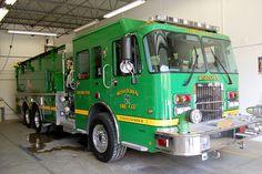 Green fire truck from the Irishtown Fire Company in Irishtown, PA. It sounds like every fire Irishtown FD truck is leprechaun green. #green #fire #truck