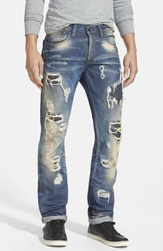 PRPS 'Demon - Au Pairs' Slim Straight Leg Jeans (Indigo) available at #Nordstrom