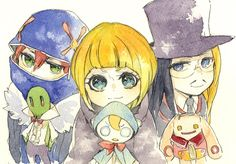 Bleach// Ririn,Kurodo and Noba