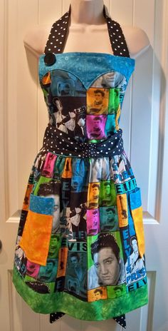 Womens Vintage legends Elvis Presley Apron A Little by longklee,