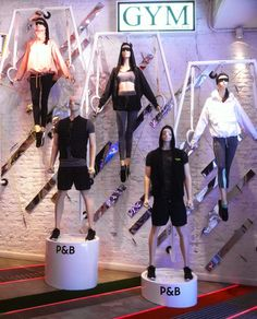 "PULL&BEAR, ""Presenting the gym collection ...... to keep you on the go"", pinned by Ton van der Veer"