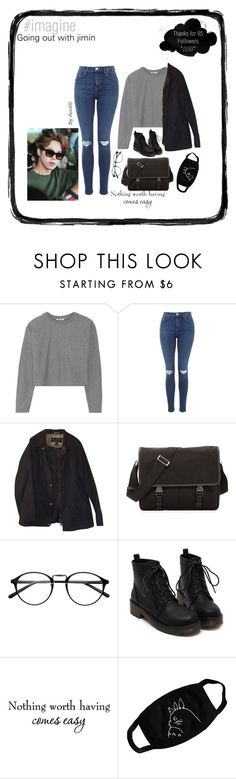 """Jimin /// outfit ♥︎"" by asivol00 ❤ liked on Polyvore featuring T By Alexander Wang, Barbour, Prada, bts, jimin and outfitimagines"