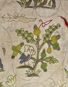 Cover | V England 1600-1629. Silk, silver and silver-gilt thread embroidered on a linen ground.