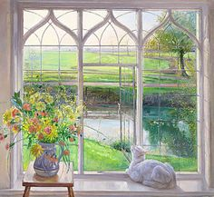 Landscapes Painting - Dawn Breeze by Timothy Easton