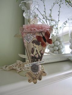 Mother's Day Ornament  Pennant Decoration for Mom by AvantCarde, $13.00