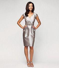 71ea2e21020 Alex Evenings Satin Taffeta Dress  Dillards Bride Dresses