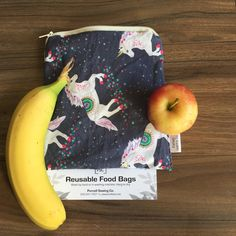 Unicorn Reusable Machine Washable Wipable Lined Zippered Food Bag Sandwich Size by PurcellSewingCo on Etsy Feminine Hygiene, Reusable Bags, Easter Baskets, Fruits And Veggies, Safe Food, Dishwasher, Unicorn, Sandwiches, Lunch Box