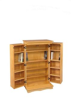 Amish DVD Cabinet Organize your movie collection with plenty of space in this solid wood beauty.