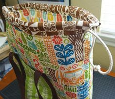 birchfabrics: Tutorial: Ipanema Beach Bag Tutorial {by Heidi of Fabric Mutt}