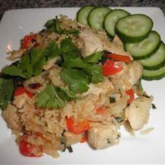 My recipe 4 Thai Spicy Basil Chicken Fried Rice