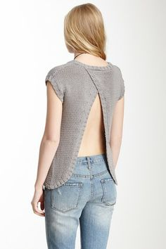 Open Back Knit Top ... I love this so much. If only I was not so toady.