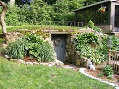 Great way to have a root cellar without the ugly cellar hole in the ground thing going on