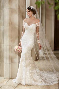 Prachtige trouwjurk model 6176 van het merk Stella York uit de collectie van 2016