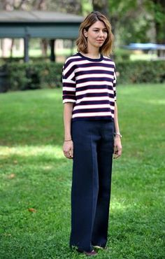 Sofia Coppola - she is not a pear - but this outfit would look good on pear shaped ladies