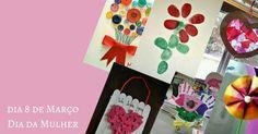 Atividades para Dia da Mulher - 8 de Março - Atividades para Educação Infantil Playing Cards, 8th March, Teachers' Day, Ladies Day, New Ideas, Schools, Game Cards