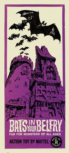 Bats in Your Belfry Game - (side panel art) Mattel Halloween Eve, Halloween Toys, Cheap Halloween, Vintage Halloween, Sci Fi Horror, Horror Art, Retro Toys, Vintage Toys, Creepy Toys