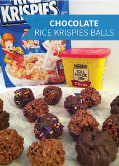 Combine the kid-friendly fun of Rice Krispies Treats® with the ease of party-ready, bite-sized desserts in this quick and easy recipe. Just add a coating of melted chocolate and rainbow sprinkles for some extra yummy pizzazz. Chocolate Rice Crispy, Rice Crispy Treats, Chocolate Peanut Butter, Krispie Treats, Rice Krispies, Melted Chocolate, Chocolate Chips, Yummy Snacks, Yummy Treats