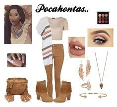 """Modern Day Disney's Pocahontas Outfit"" by marydudich on Polyvore featuring Topshop, Ivanka Trump, Lemlem, Forever 21, Pamela Love, Plukka, LeiVanKash, Charlotte Tilbury, MAC Cosmetics and modern"