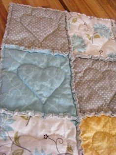 The Complete Guide to Imperfect Homemaking: A Heart-Stitched Baby Rag Quilt {Tutorial}
