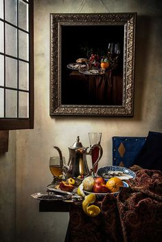 Johannes Vermeer works are classified as 'genre' paintings and not still life; however, numerous of his works contain arrangements of inanim. Johannes Vermeer, Painting Still Life, Love Painting, Vermeer Paintings, Dutch Still Life, Baroque Art, Dutch Golden Age, Classic Paintings, Dutch Painters