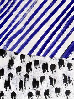 Laurent KOLLER Kollage 5 ink and paper 41X27 cm 2012