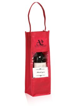 Carry your wine bottles conveniently and in style with these customized wine bottle carrier bags!