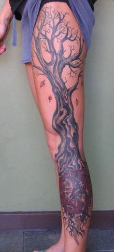 ideas tree roots tattoo shoulder for 2019 Tree Leg Tattoo, Tree Roots Tattoo, Leg Sleeve Tattoo, Tattoo Shoulder, Full Leg Tattoos, Sleeve Tattoos For Women, Foot Tattoos, Life Tattoos, Tatoos